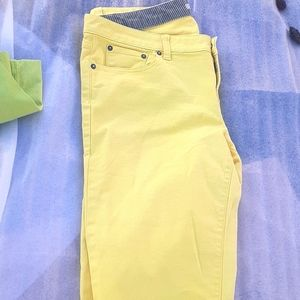 Gap Denim Jeans pants Yellow 32 Established 1969